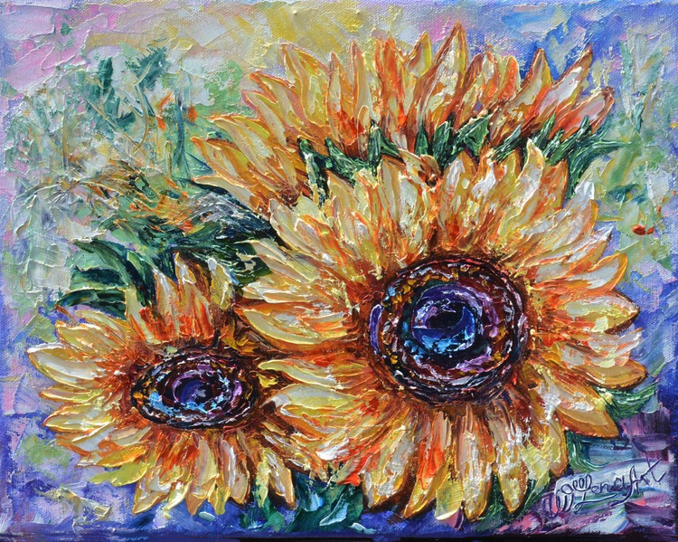 Countryside Sunflowers (Palette Knife) - Image 0