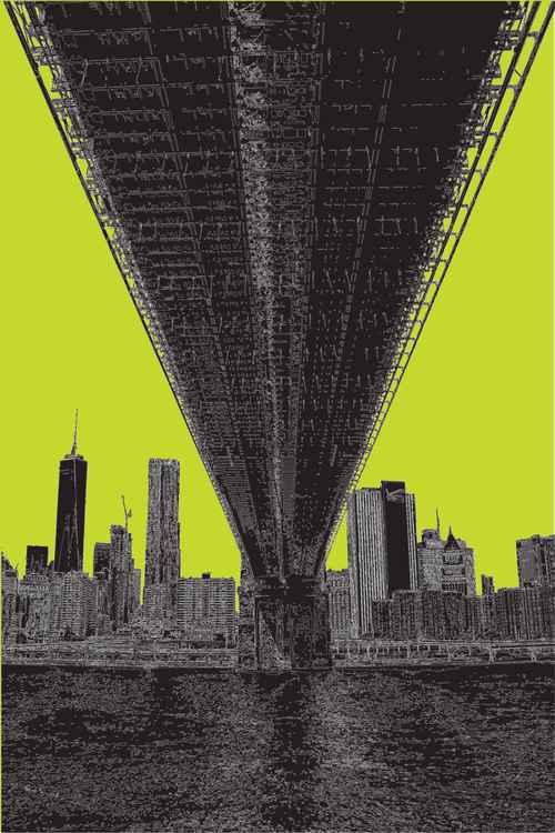 Brooklyn Bridge 3 NY on lime -