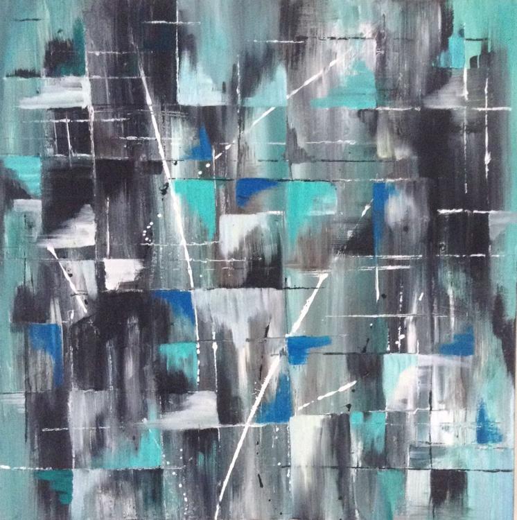 """""""Vertigo"""" 24 X 24 inch Acrylic on Box Canvas - Image 0"""