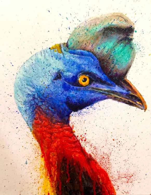 Cassowary Pose Right -