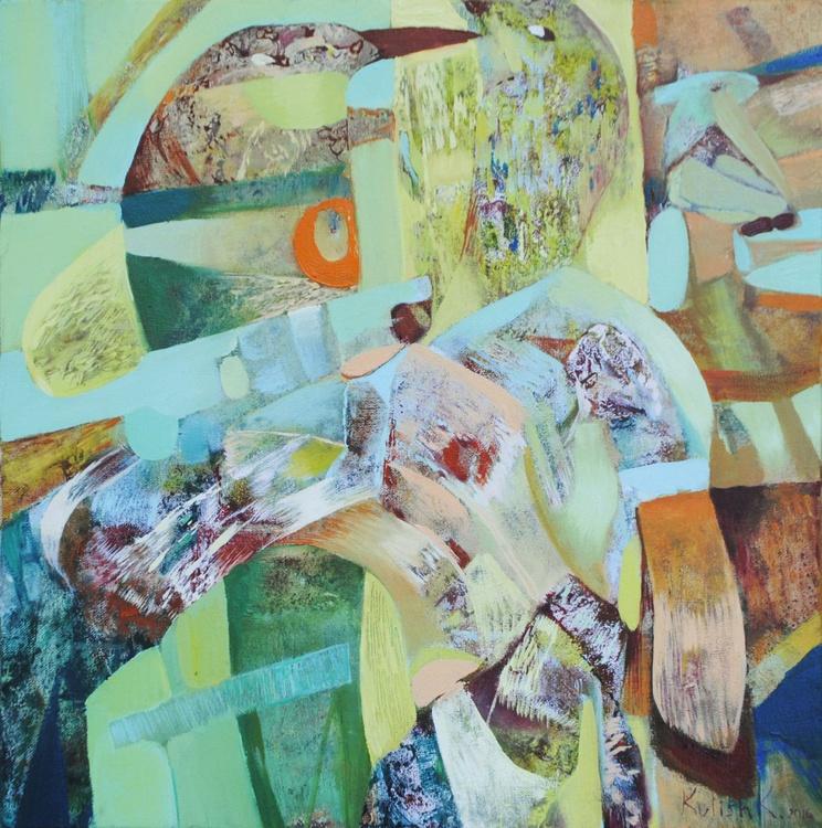 Original and signed oil painting on canvas abstract handmade medium Kulish - Image 0