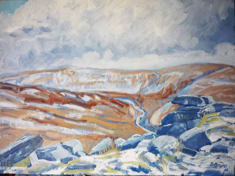 Winter at Tavy Cleave, Dartmoor -