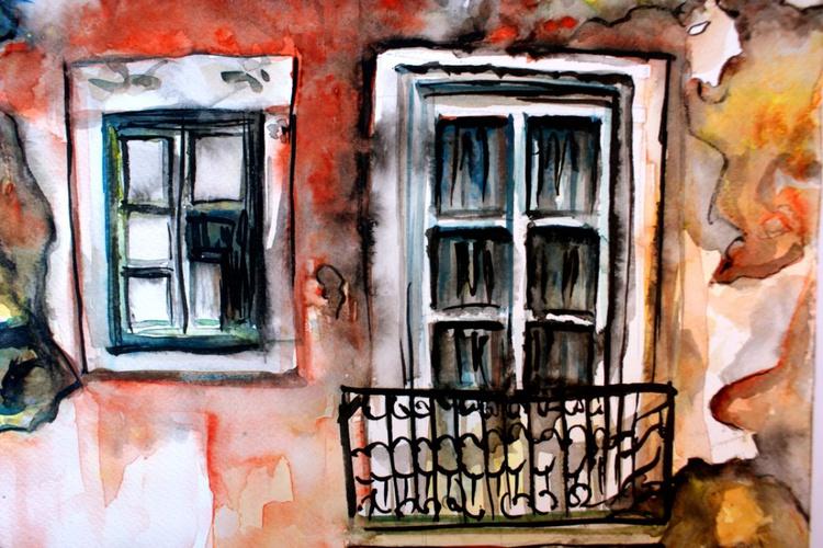 Old Balcony in Lisbon - Image 0
