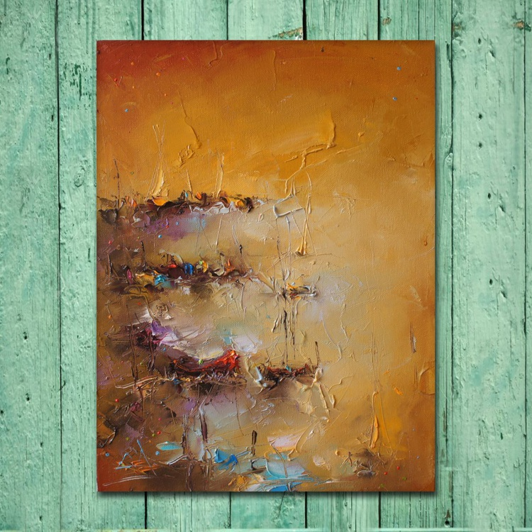 Sunny day, Modern Seaside Painting, Free shipping - Image 0