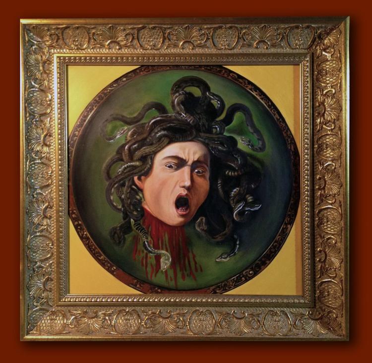 """""""Head of Medusa"""" after Caravaggio - Image 0"""