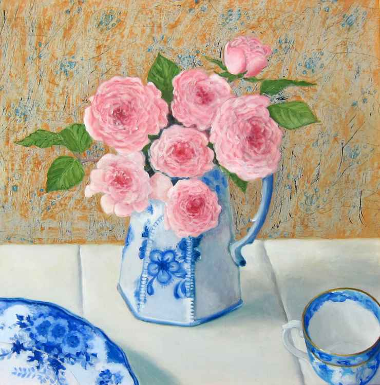 Roses and Blue China -