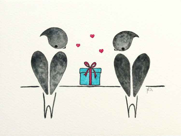 Swallows with a gift -