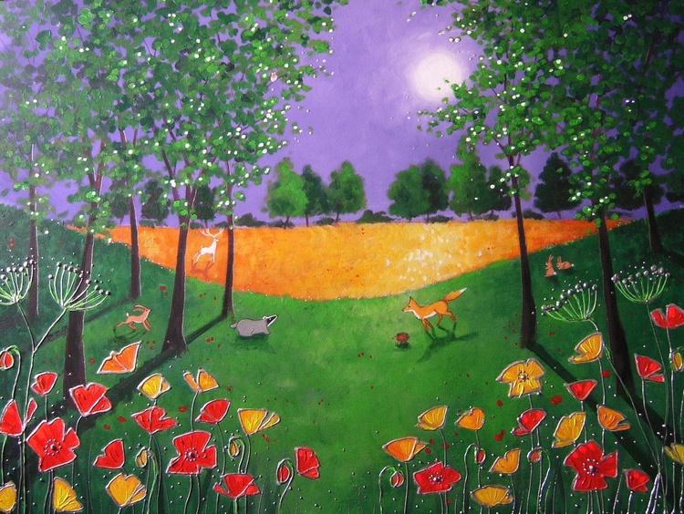 Moonlight on the wild poppies - Image 0