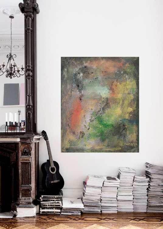 """55x45cm(22x18inch),  When spring comes 3"""",  Art Painting Abstract Painting, Modern Urban Art Office Art decor Home Decor Gift Idea - Image 0"""