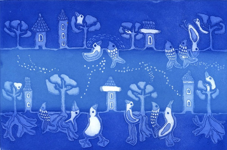 River, aquatint etching - Image 0