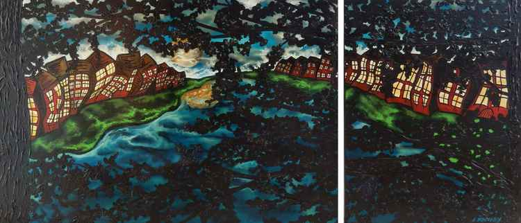 HIdden Lake (Diptych)