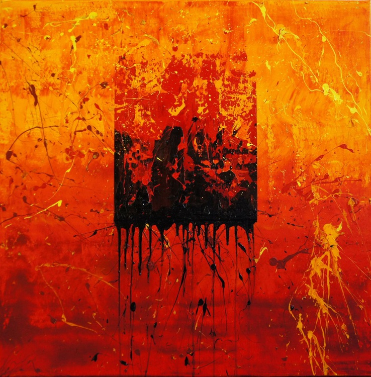 Inflamed With Rage (80 x 80 cm) - Image 0