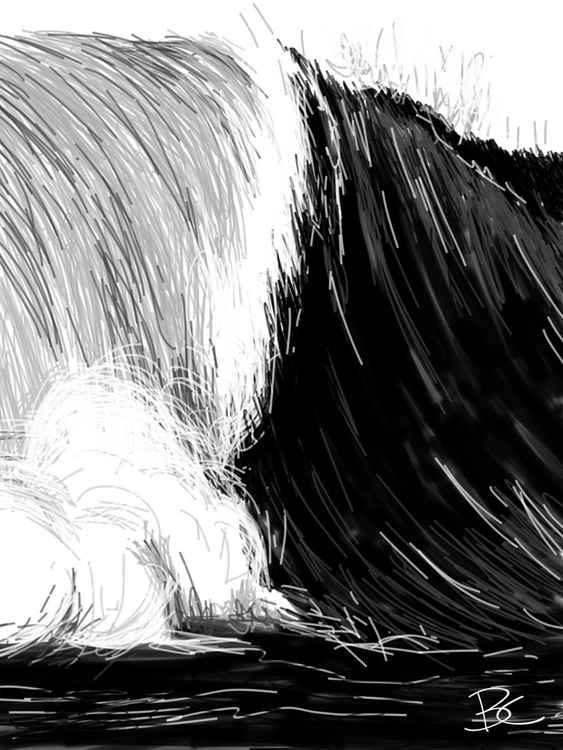 Wave 8 - Drawing - Small -