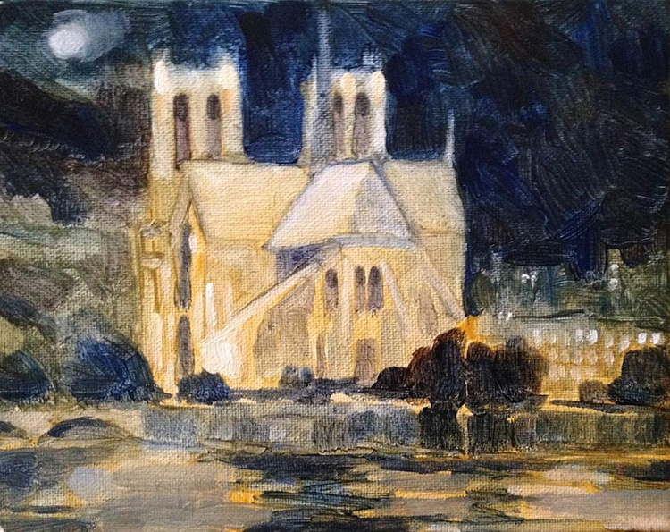 Moon Over Notre Dame - Image 0