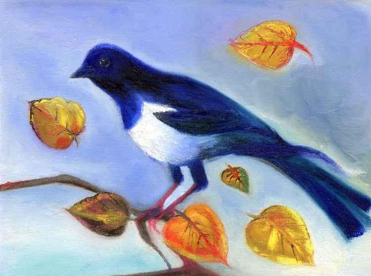 Autumn Magpie -