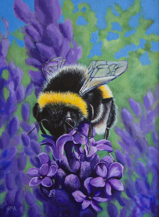 Bumble on Lavender - Image 0