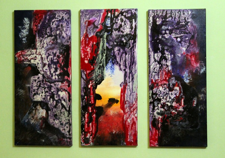 Inside Out - abstract landscape -Triptych - Image 0