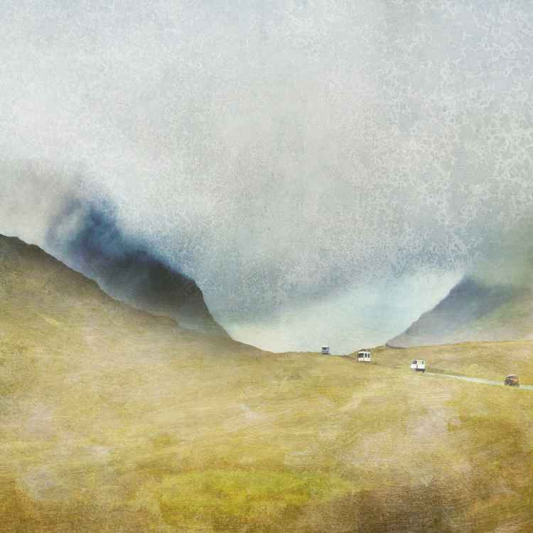 "Glencoe.  Large Giclee Print.  ""The Road North"" Glencoe, Scottish Highlands -"