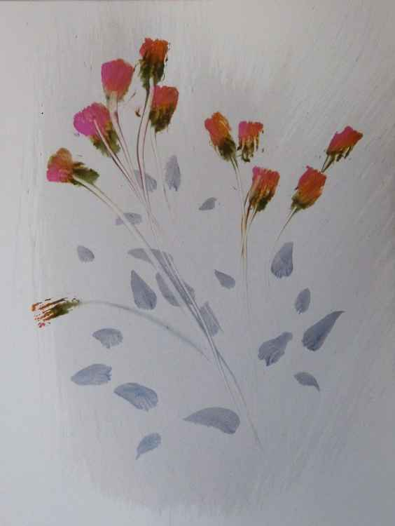 Delicate Field Flowers, 24x32 cm
