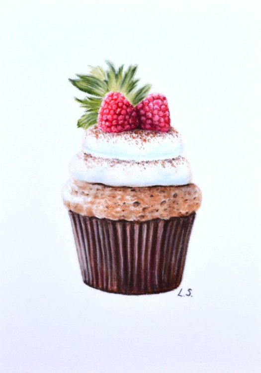 Cupcake Original pastel drawing - Image 0