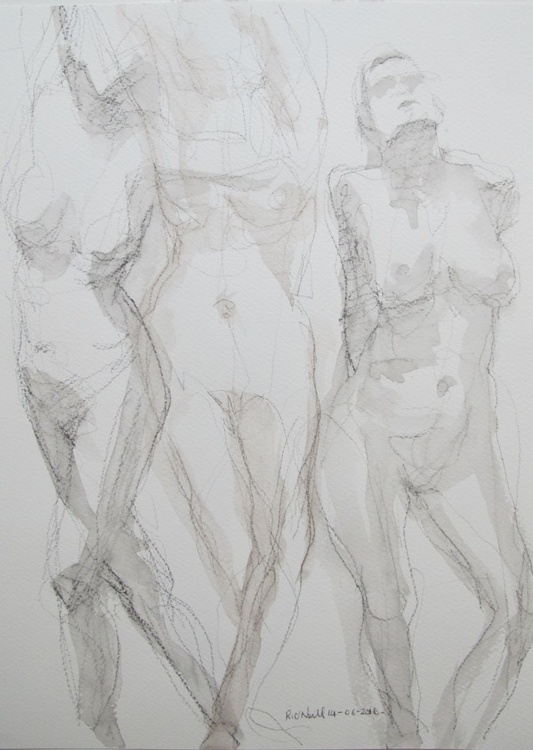 3 standing nudes - Image 0