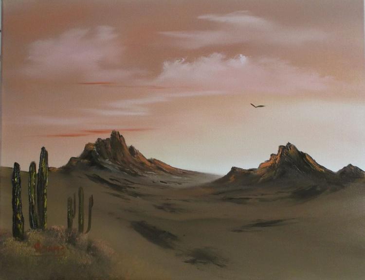 Desert Sunrise with obligatory Cacti. - Image 0
