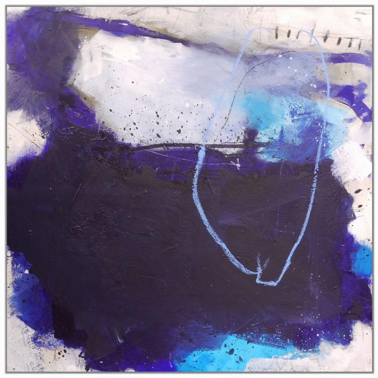 Impressions of blue (Impressionen in blau) | Work No. 2014.15 | 120 x 120 cm - Image 0