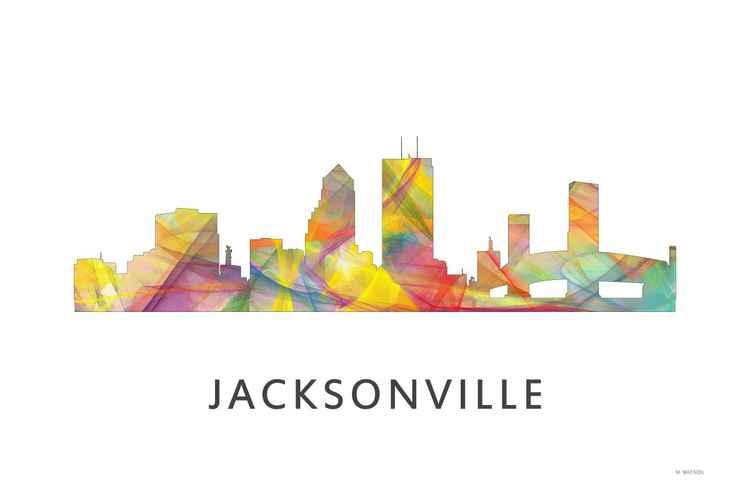 Jacksonville Florida Skyline WB1 -