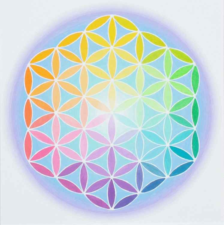 FLOWER OF LIFE SPECTRAL VARIATION MANDALA -