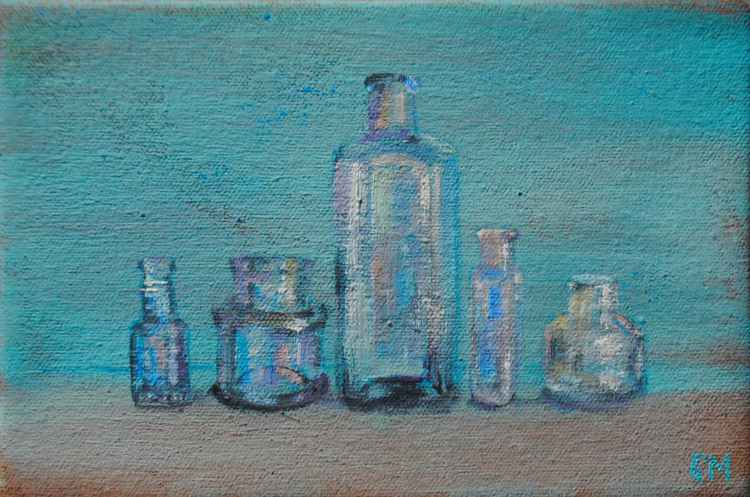 Rescued Bottles (Day #15/365 Postcards from Pembrokeshire -