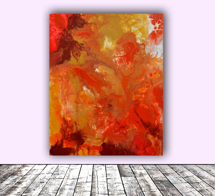 The Energy of Autumn - Season Collection, Big Painting- FREE SHIPPING - Large Abstract Painting - Ready to Hang, Hotel and Restaurant Wall Decoration - Image 0