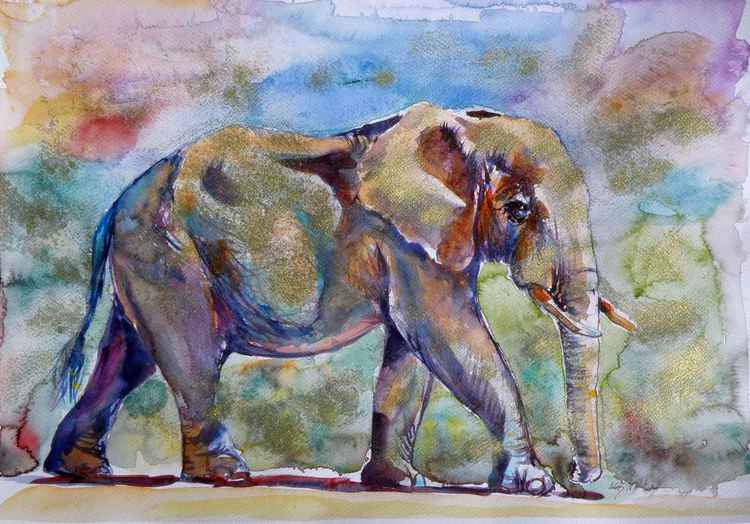 Elephant in gold -