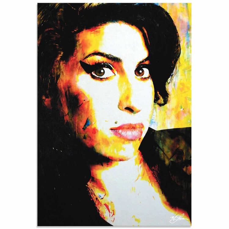 Mark Lewis 'Amy Winehouse A School of Thought' Limited Edition Pop Art Print on Metal - Image 0