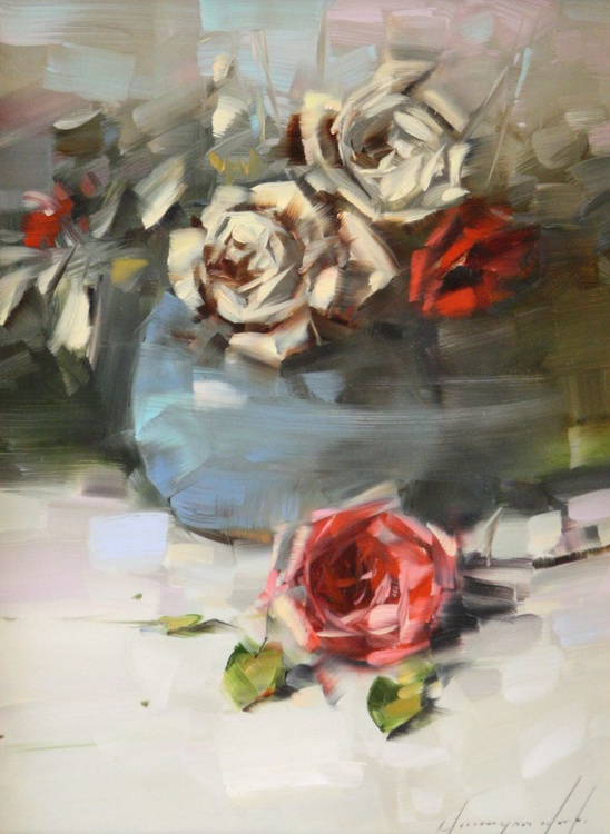 Vase of Roses - Image 0