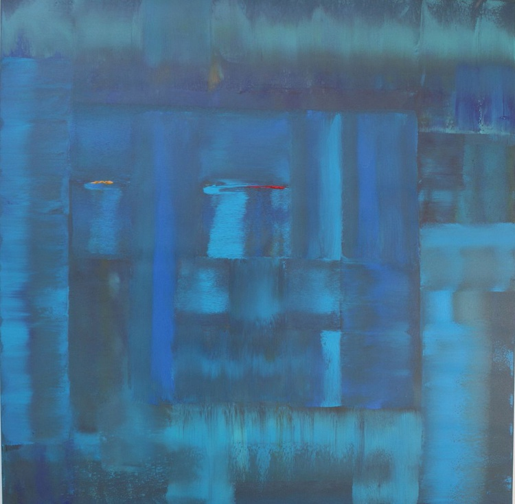 The Blue Teal Abstract - Image 0