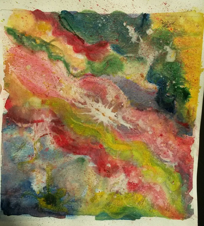 The Elements.  Original water colour. Abstract - Image 0