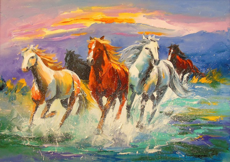 A herd of horses - Image 0