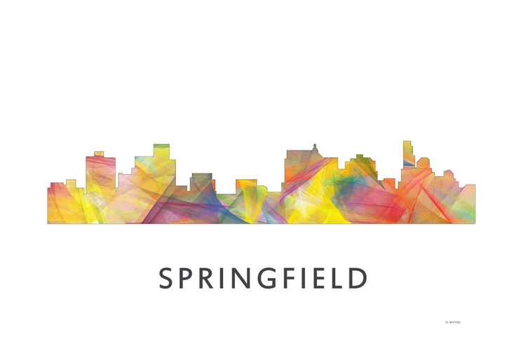 Springfield Illinois Skyline WB1 -