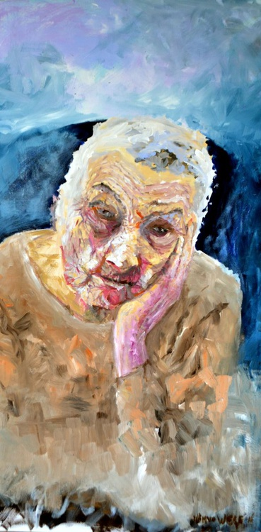 Old woman stares into the distance - Image 0
