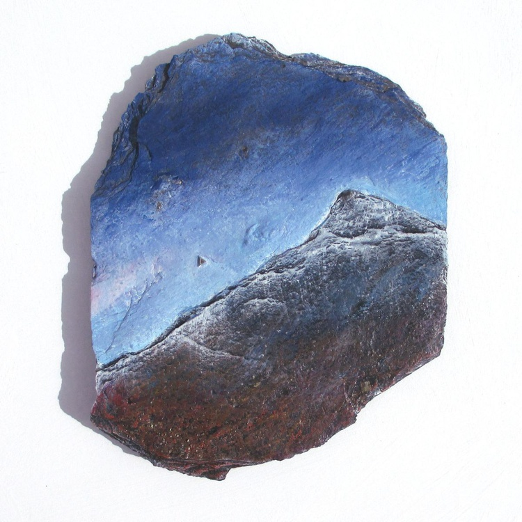 Slate Painting: Evening Star - Image 0