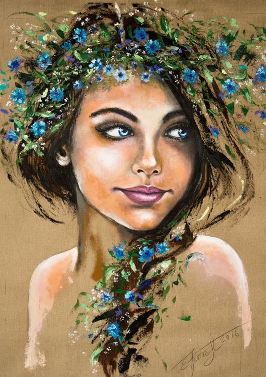 """Wasilisa"",original acrylic painting, 65x92x2 cm, ready to hang - Image 0"