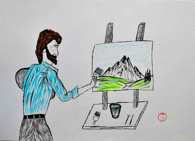 bob ross at work -
