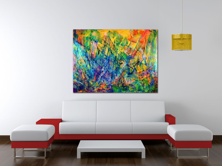All around you - AMAZING COLORFUL STATEMENT PIECE! - Image 0