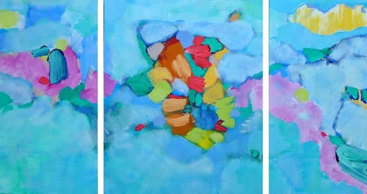 "Cloud Rider: Flying Dreams 36"" x 20""/ 91.5 x 50 cm - Image 0"