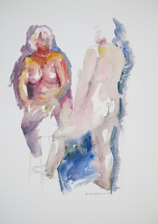 standing/seated female nude - Image 0