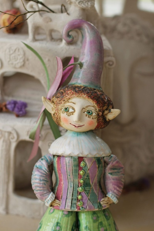 Puck, also known as Robin Goodfellow from the Midsummer Night's Dream Ceramic illustration project by Elya Yalonetski - Image 0