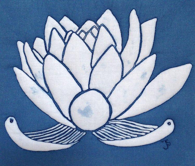 White And Blue Lotus Flower Artfinder
