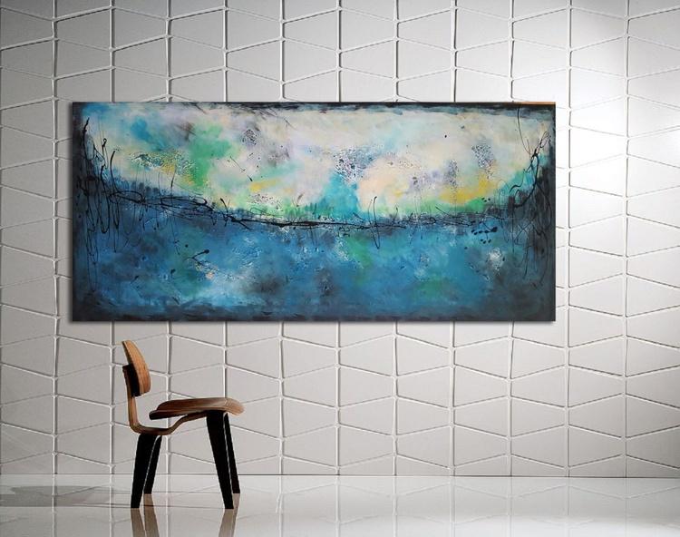 """51x 23,5""""( 130x60cm), Delos Island Landscape,  lansdcape painting , canvas art, home painting - Image 0"""