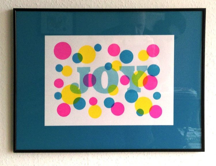 'Joy' -  Screenprint in 4 colours - Image 0