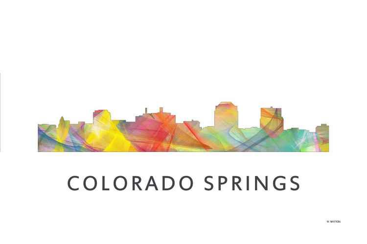 Colorado Springs Colorado Skyline WB1 -